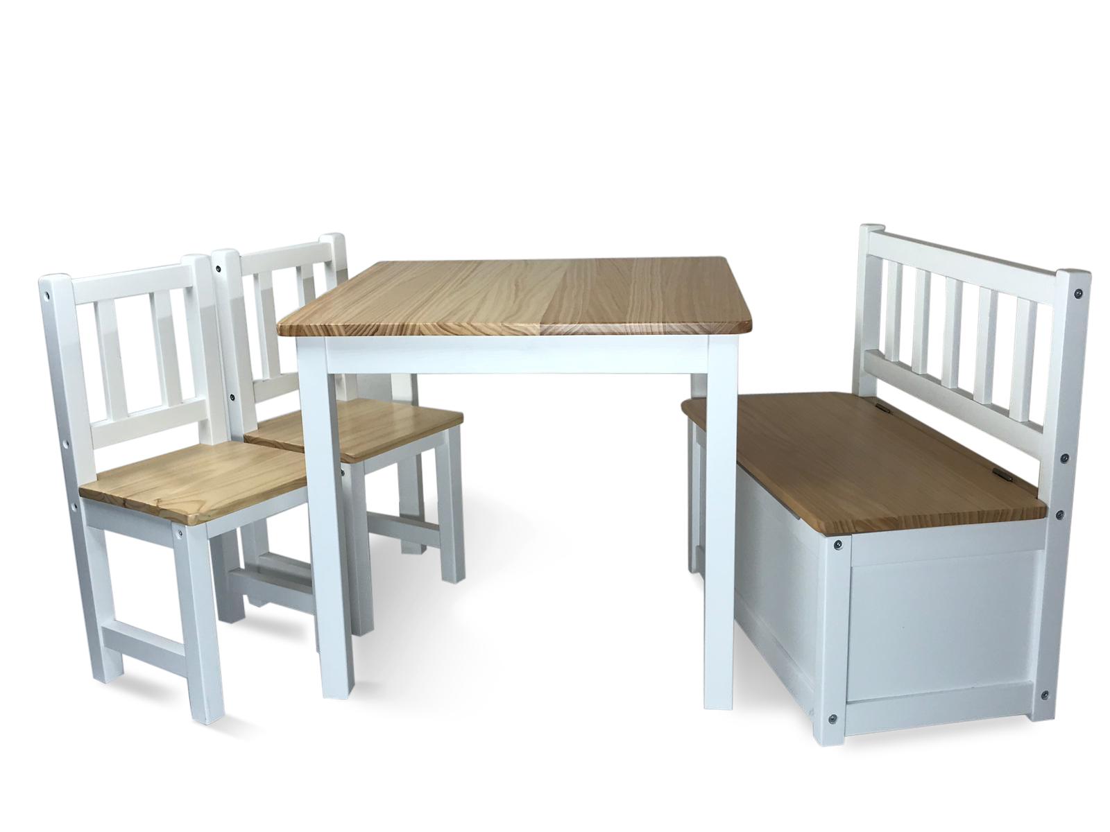 Kindertafel En Stoel Met Opbergruimte.Juniorset Nielson Luxe Kindertafel 2 Stoeltjes En Kinderbankje