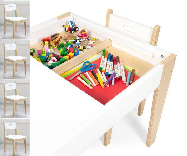 kindertafel met 4 stoeltjes