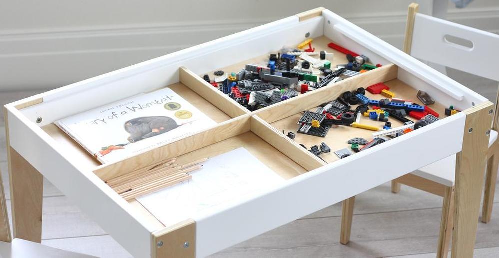 Kindertafel En Stoel Met Opbergruimte.Kindertafel En 2 Stoeltjes Beboonz Storage