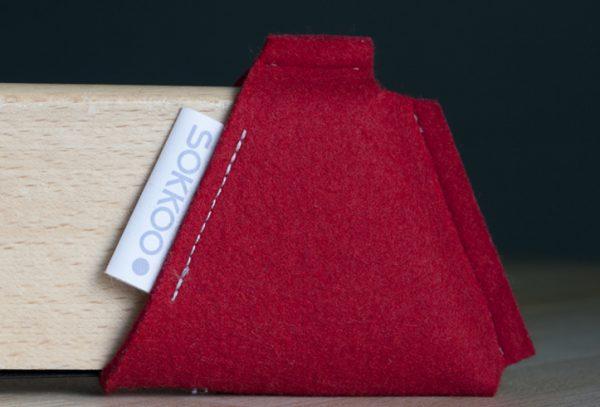 sokkoo rood voor de kinderstoel
